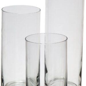 Glass Cylinder Hurricane Candleholders