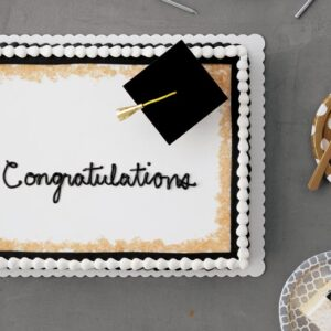 Quarter Graduation Sheet Cake