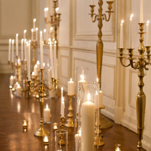 Gold Tone Candelabra – tall standing