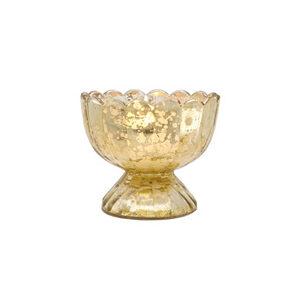 Gold Mercury Glass Tealight Holder – Sundae Cup