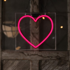 Hot Pink Neon Heart