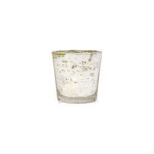 Silver Mercury Glass Votive Holder – Simple Cup