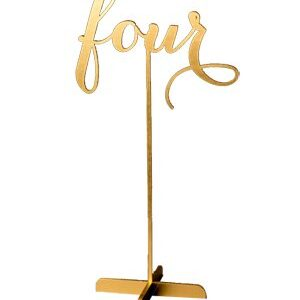 Script Table Number – gold