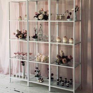 Glass White Shelf