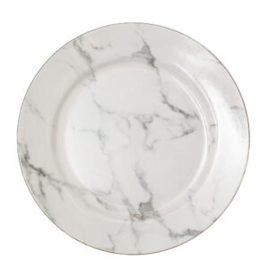 Marble black and white Charger