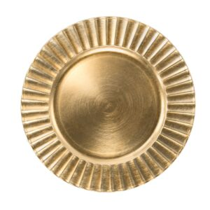 Gold Fluted Charger